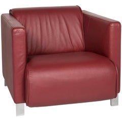 Rolf Benz Leather Armchair Red