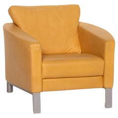 Rolf Benz Leather Armchair Yellow