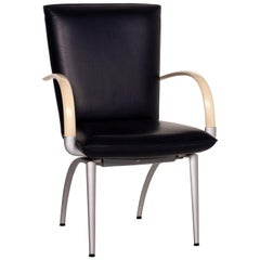 Rolf Benz Leather Chair Blue Cream Dining Chair
