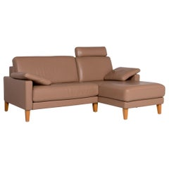 Rolf Benz Leather Corner Sofa Brown Sofa Couch