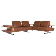 Rolf Benz Leather Sofa Cognac Corner Sofa