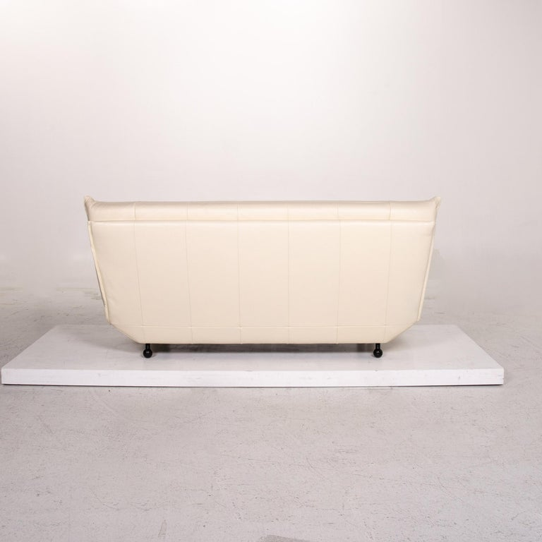Rolf Benz Leather Sofa Cream Two-Seat Couch 2