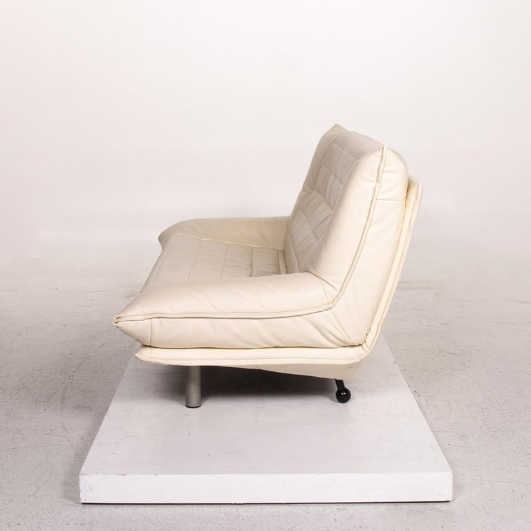 Rolf Benz Leather Sofa Cream Two-Seat Couch 3
