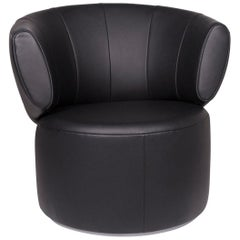 Rolf Benz Loop 684 Leather Armchair Black