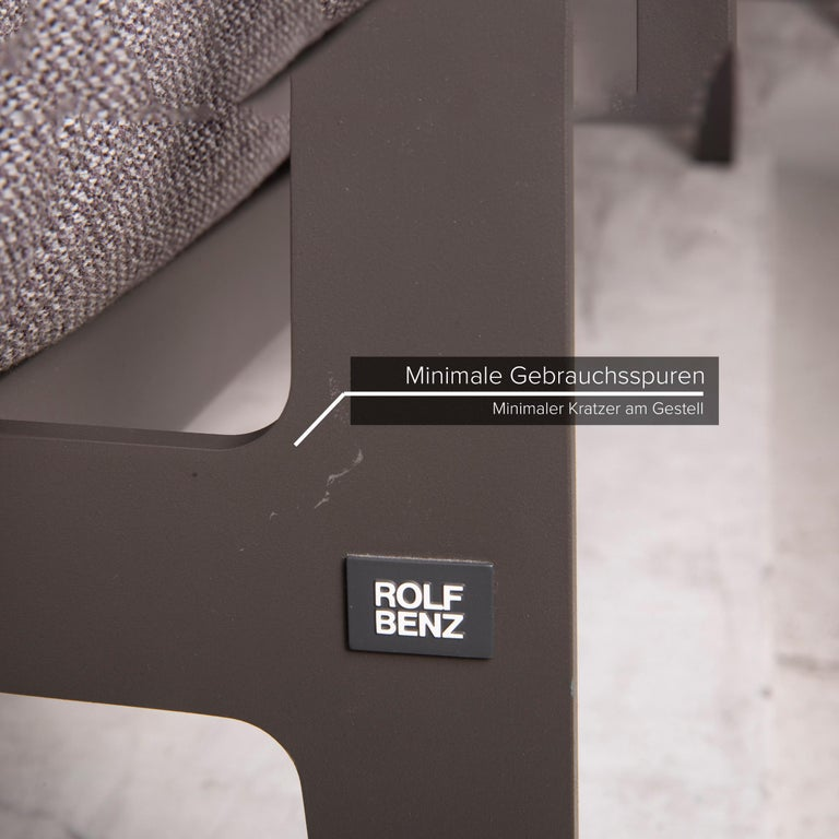 Rolf Benz Mera Fabric Sofa Two-Seater Sofa Fabric Gray Function In Good Condition For Sale In Cologne, DE