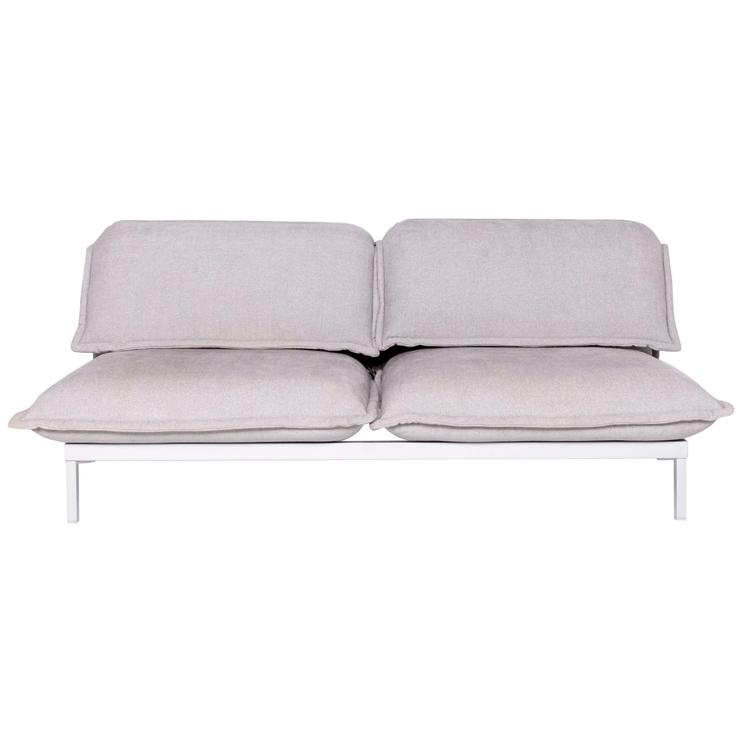 Astounding Rolf Benz Nova Designer Fabric Sofa Gray Genuine Leather Couch Function Sofa Ncnpc Chair Design For Home Ncnpcorg