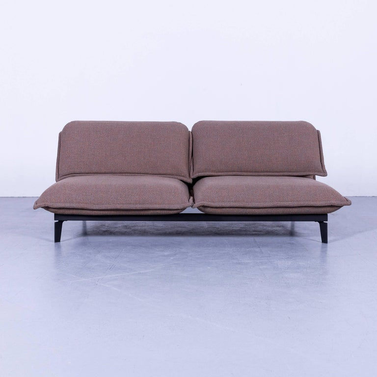 Rolf Benz Nova Leather Sofa Brown Fabric Two Seat bei 1stdibs
