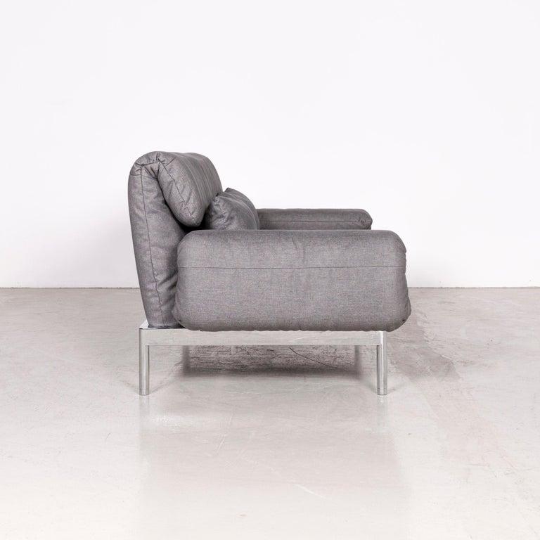 Rolf Benz Plura Designer Sofa Fabric Grey Relax Function Couch Modern 5