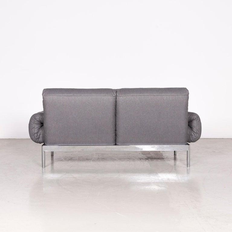 Rolf Benz Plura Designer Sofa Fabric Grey Relax Function Couch Modern 6