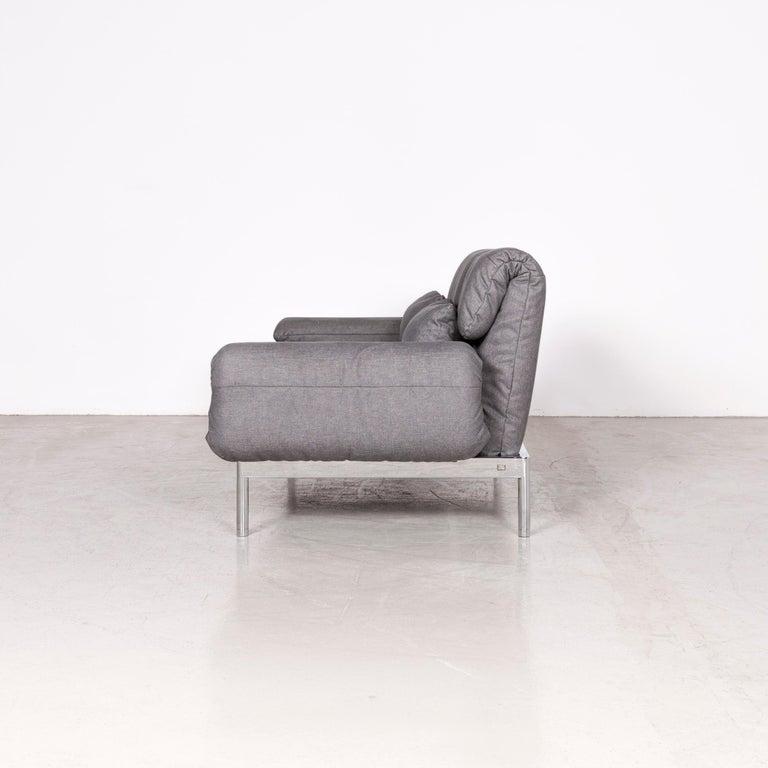 Rolf Benz Plura Designer Sofa Fabric Grey Relax Function Couch Modern 7