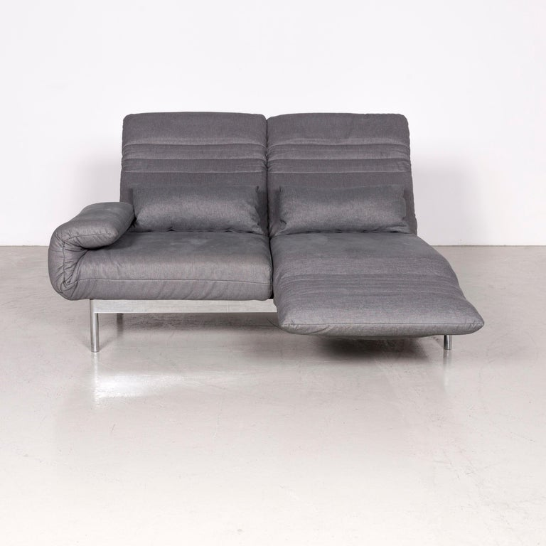 Rolf Benz Plura Designer Sofa Fabric Grey Relax Function Couch Modern In Good Condition In Cologne, DE