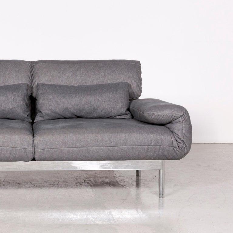 Rolf Benz Plura Designer Sofa Fabric Grey Relax Function Couch Modern 2