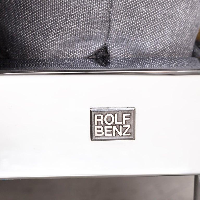 Rolf Benz Plura Designer Sofa Fabric Grey Relax Function Couch Modern 4