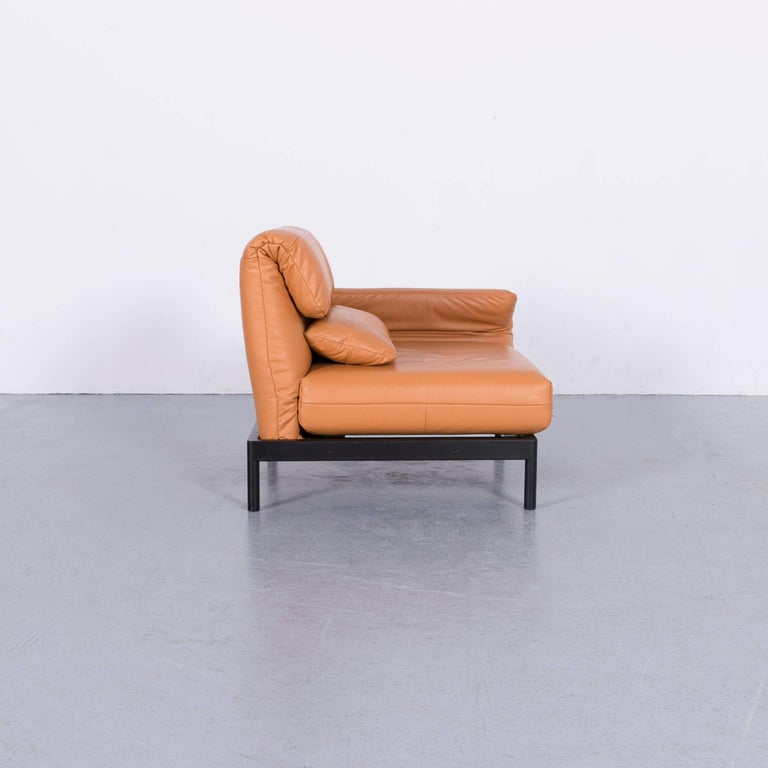 Rolf Benz Plura Designer Sofa Leather Orange Yellow Red Armchairs 7