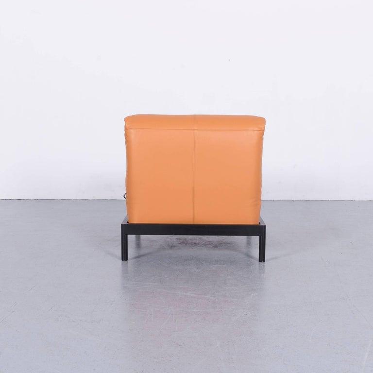 Rolf Benz Plura Designer Sofa Leather Orange Yellow Red Armchairs 8