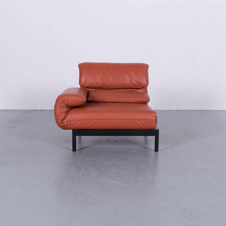 Rolf Benz Plura Designer Sofa Leather Orange Yellow Red Armchairs 11