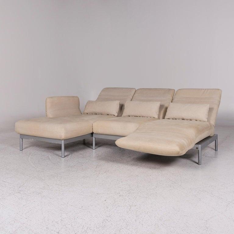 Rolf Benz Plura Fabric Corner Sofa Beige Sofa Function Couch