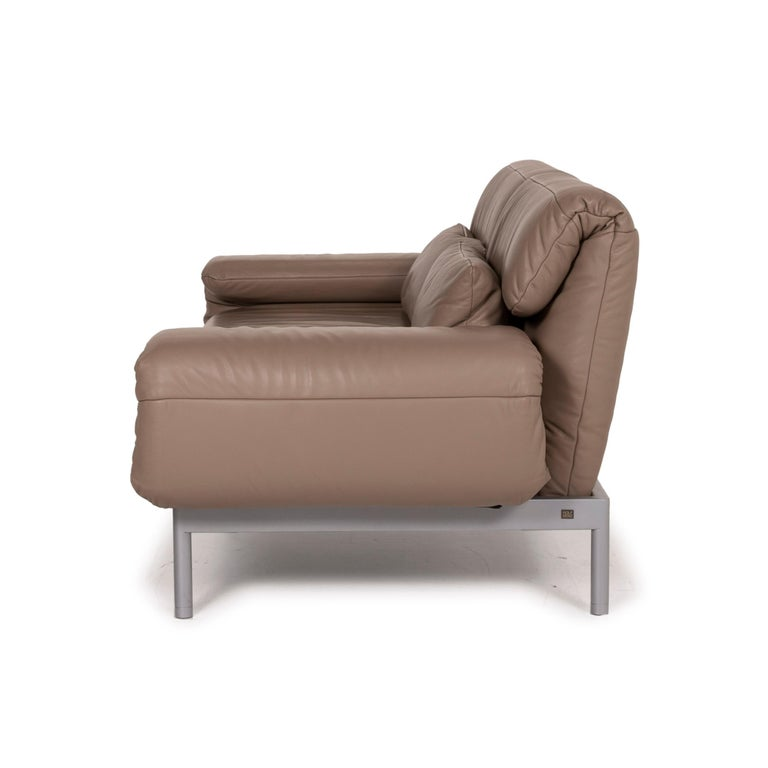Rolf Benz Plura Leather Sofa Brown Two Seater Function Reclining Function For Sale At 1stdibs