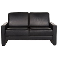 Rolf Benz Rolf Benz Ego Leather Sofa Black Two-Seat Couch