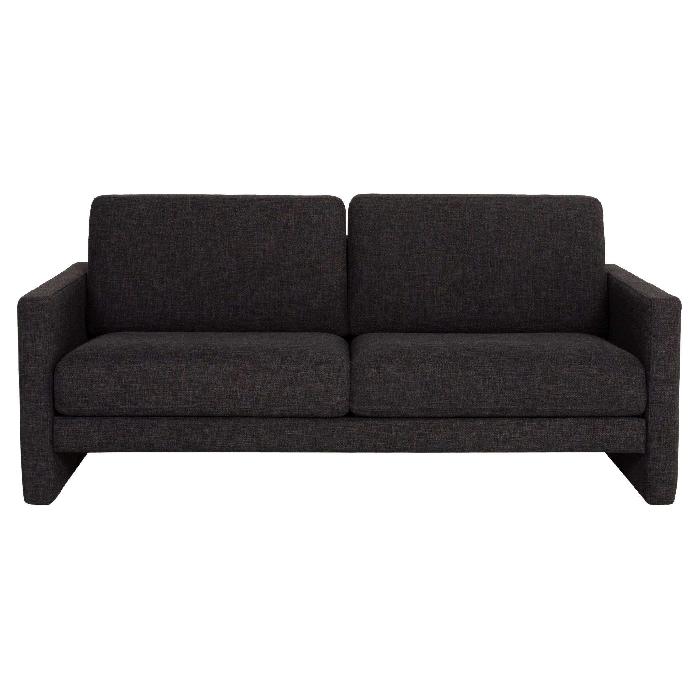 Rolf Benz Two-Seater Sofa Fabric Gray Anthracite