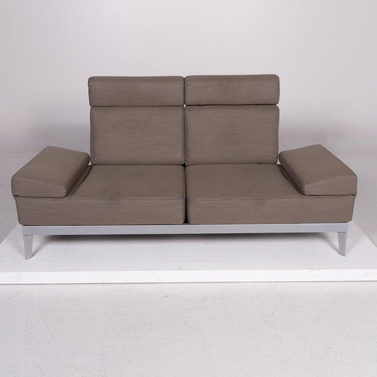 Rolf Benz Vario Fabric Sofa Olive Gray Three Seat Includes Function At 1stdibs