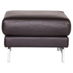 Rolf Benz Vida Designer Leather Stool Brown Footstool