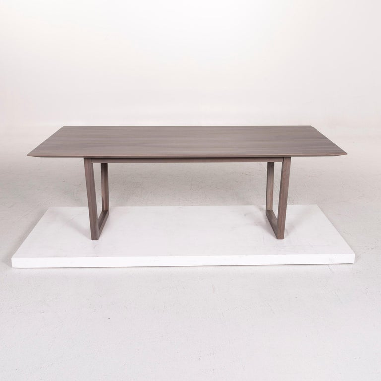 Contemporary Rolf Benz Wood Dining Table Gray Table