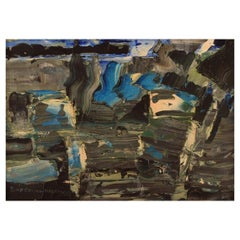 Rolf Erling Nygren '1925-2010', Sweden, Oil on Board, Abstract Composition