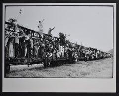 Cubans on a train, Cuba 1950s.