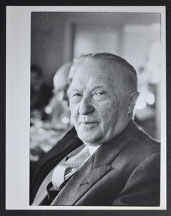 Portrait of Chancellor Konrad Adenauer, West Germany 1950s.