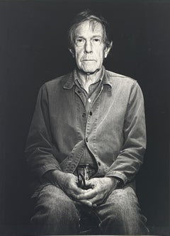 Portrait photo of John Cage by Rolf Hans in Switzerland August, 1986, signed
