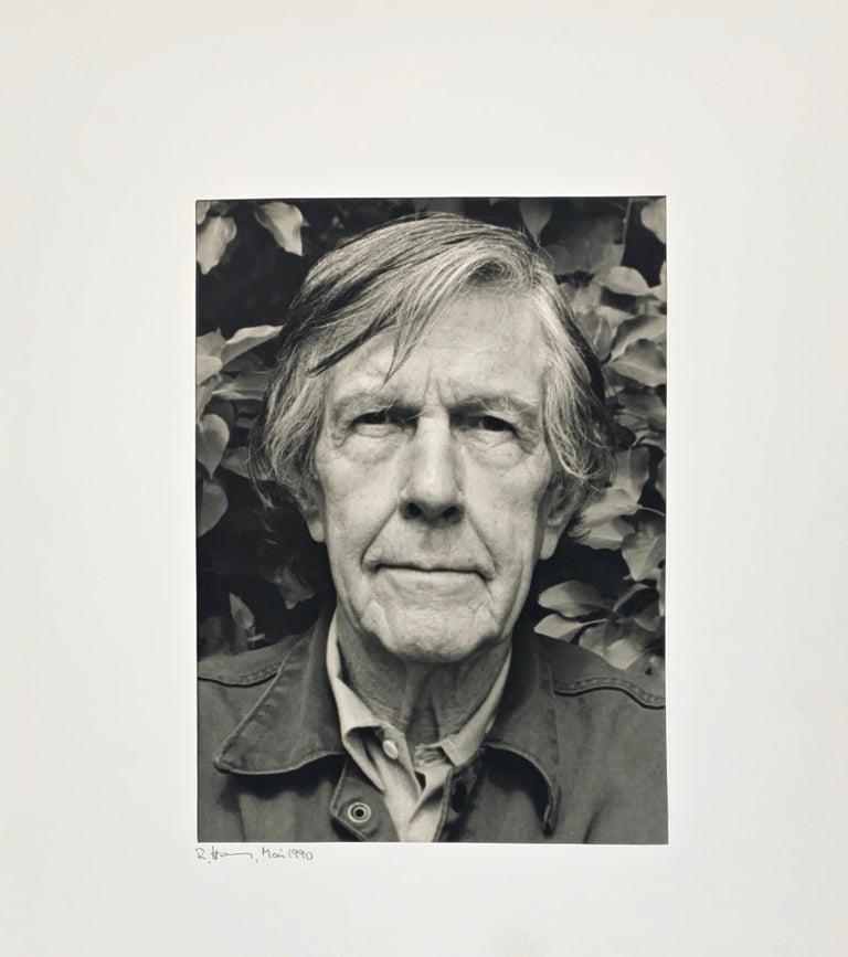 Portrait photo of John Cage by Rolf Hans, Wetzikon, Switzerland Mai, 1990 For Sale 1