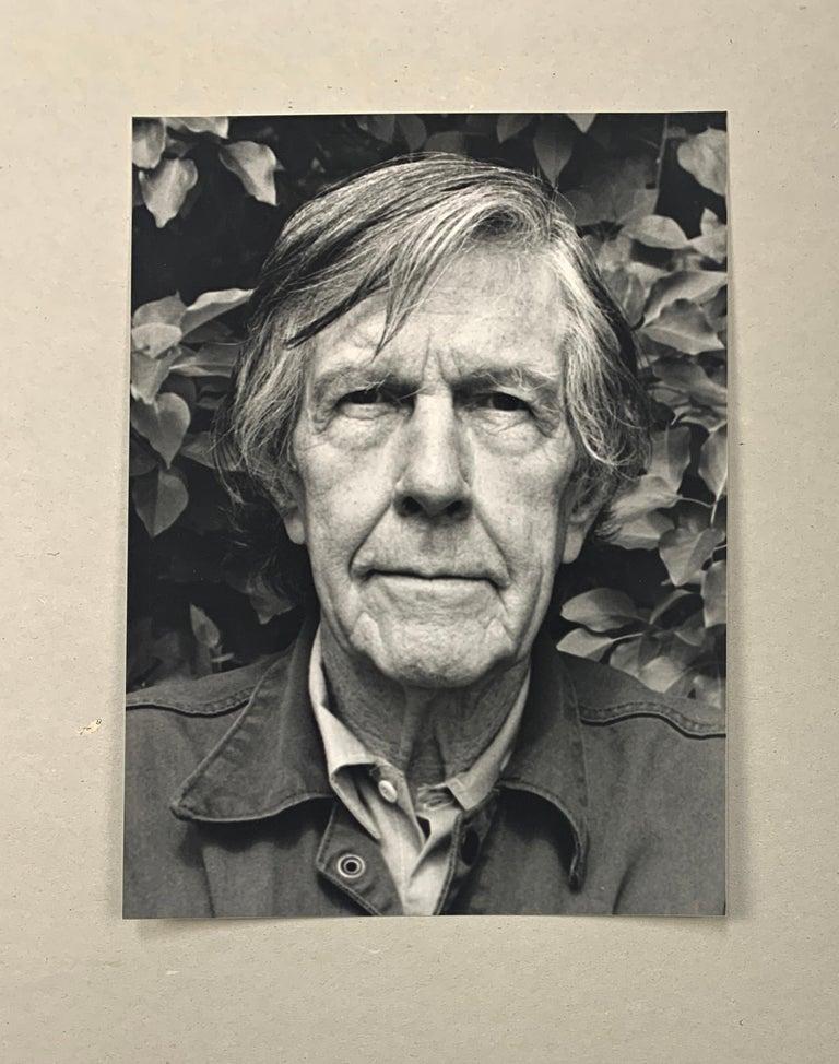 Portrait photo of John Cage by Rolf Hans, Wetzikon, Switzerland Mai, 1990 For Sale 2