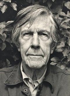 Portrait photo of John Cage by Rolf Hans, Wetzikon, Switzerland Mai, 1990