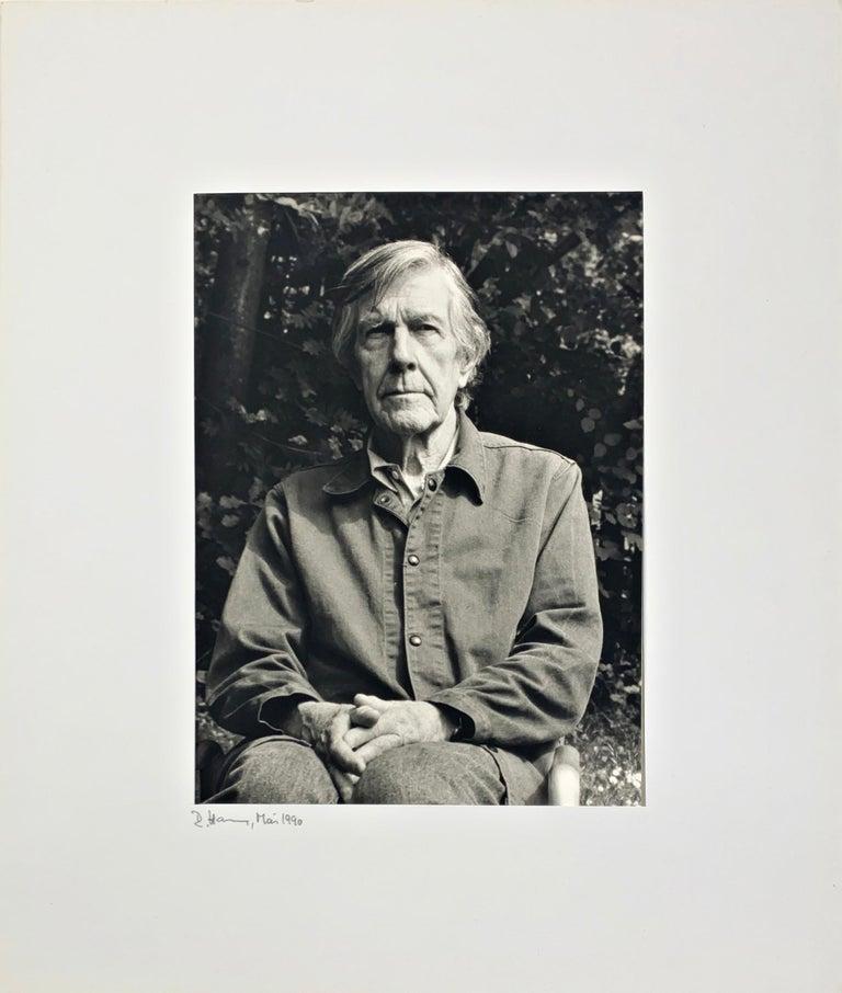 Portrait photo of John Cage by Rolf Hans, Wetzikon, Switzerland Mai, 1990 II For Sale 1