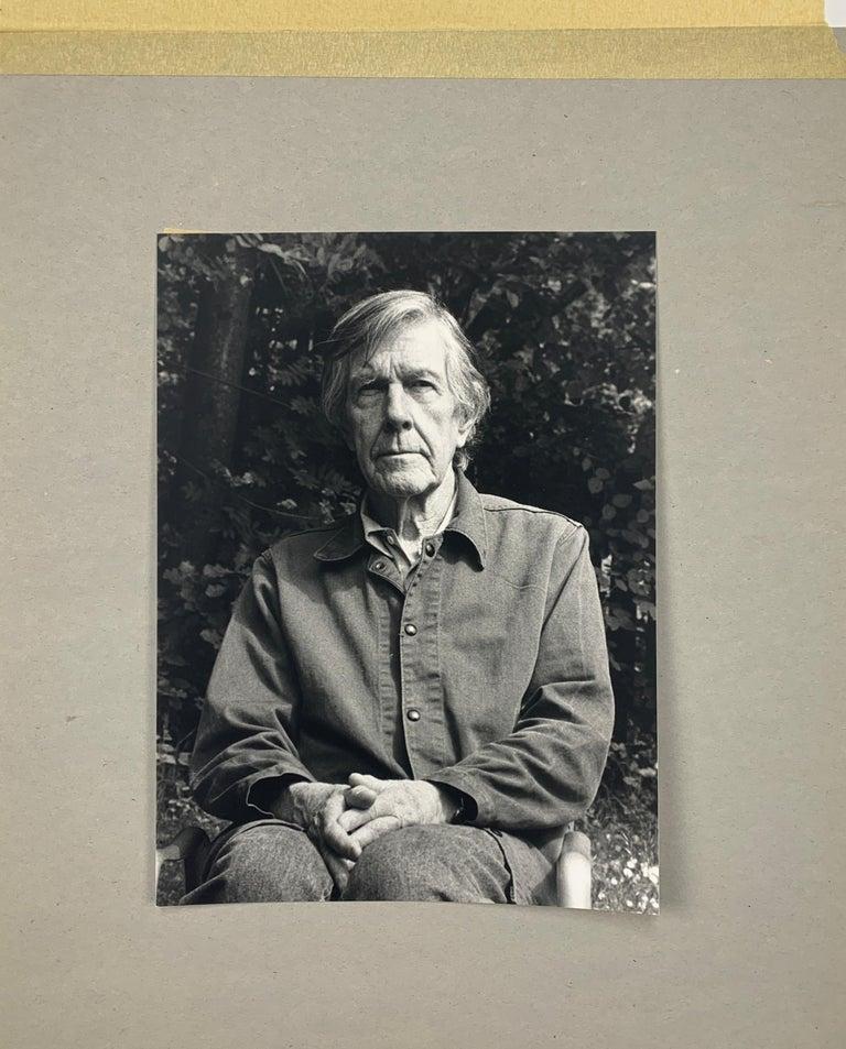Portrait photo of John Cage by Rolf Hans, Wetzikon, Switzerland Mai, 1990 II For Sale 2