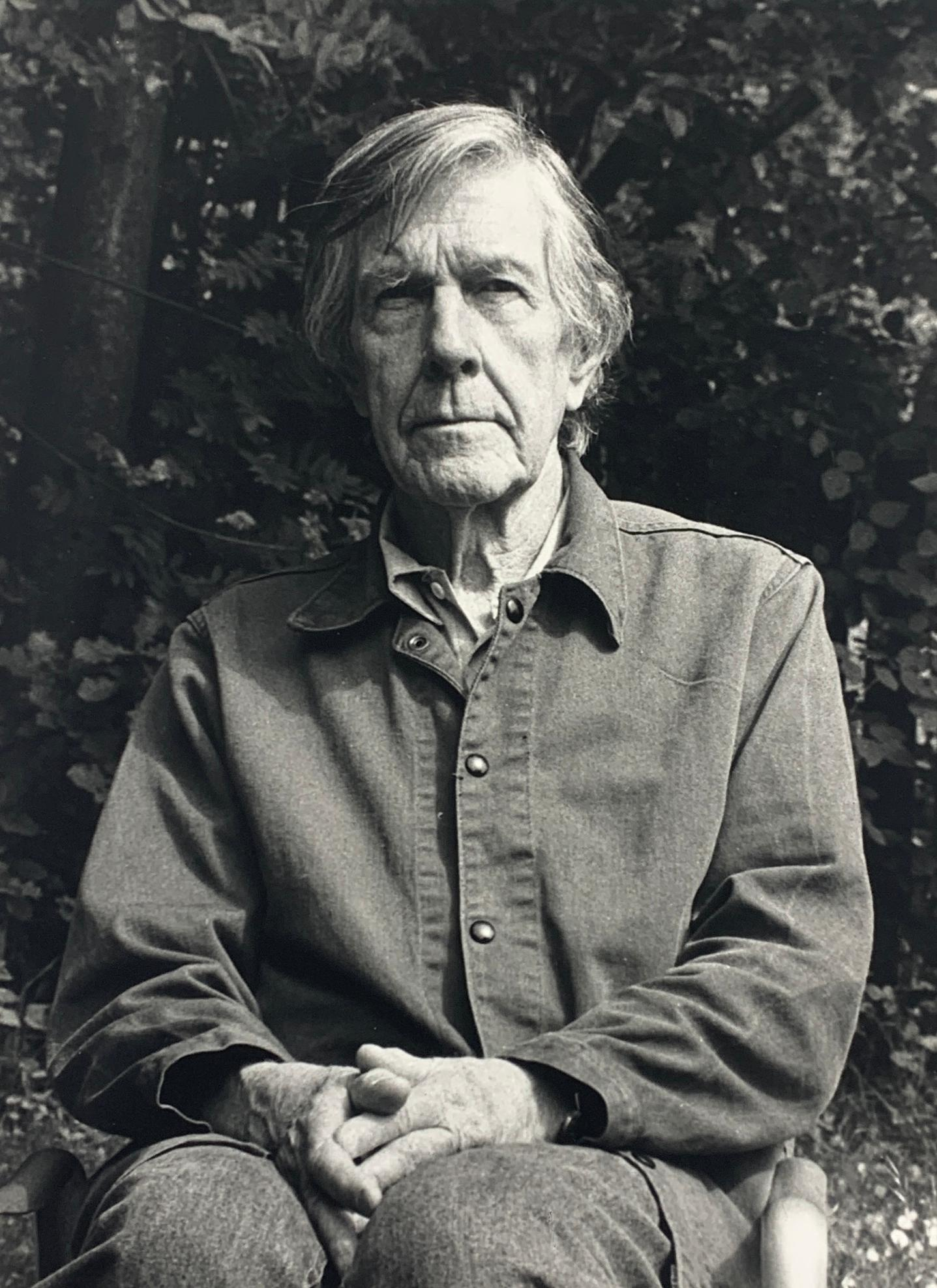 Portrait photo of John Cage by Rolf Hans, Wetzikon, Switzerland Mai, 1990 II