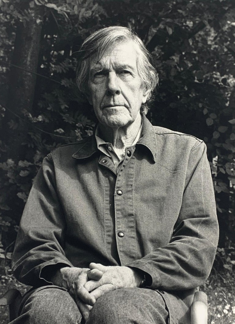 Rolf Hans Frankfurt 1938 - 1996 Basel John Cage, Wetzikon May, 1990 Signed and dated on the mat Signed, dated and titled on the reverse 23.6 x 17.6 cm  Provenance: estate of the artist  The painter, sculptor and photographer Rolf Hans was friends