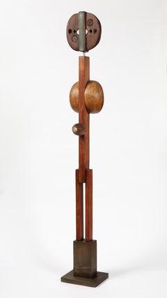 "20th Century abstract wooden Sculpture by Rolf Hans ""Figure XXXVIII"""