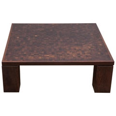 Rolf Middelboe & Gorm Lindum Marquetry Coffee Table, in Solid Wenge, Denmark