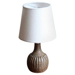 Rolf Palm, Small Table Lamp, Glazed Stoneware, Mölle, Sweden, 1960s