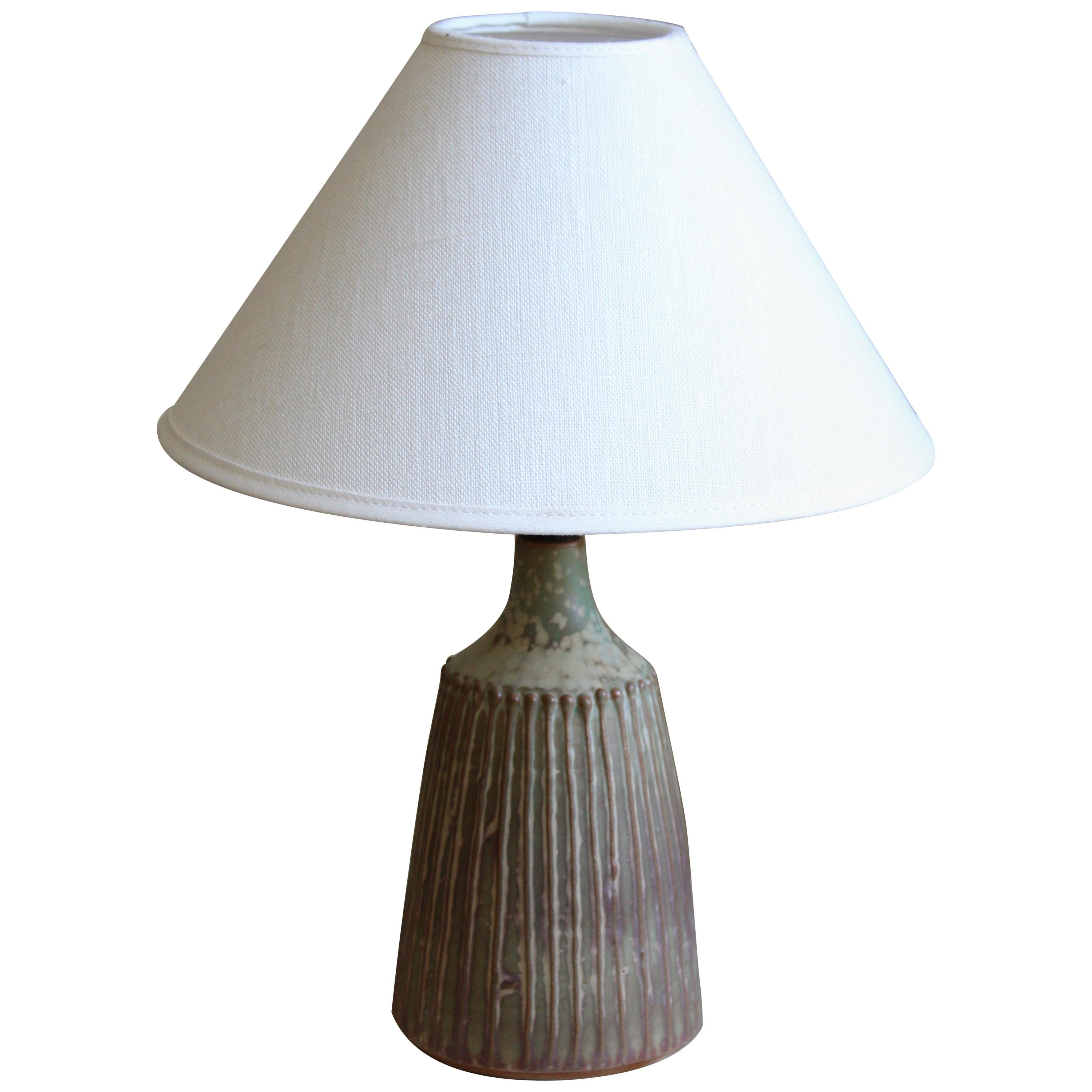 Rolf Palm, Table Lamp, Glazed Stoneware, Mölle, Sweden, 1960s