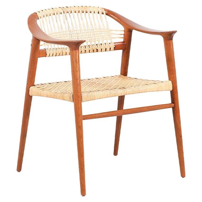 """Rolf Rastad & Adolf Relling """"Bambi"""" Cane Armchair for Gustav Bahus For Sale"""