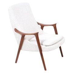 Rolf Rastad & Adolf Relling Sculpted Teak Lounge Chair