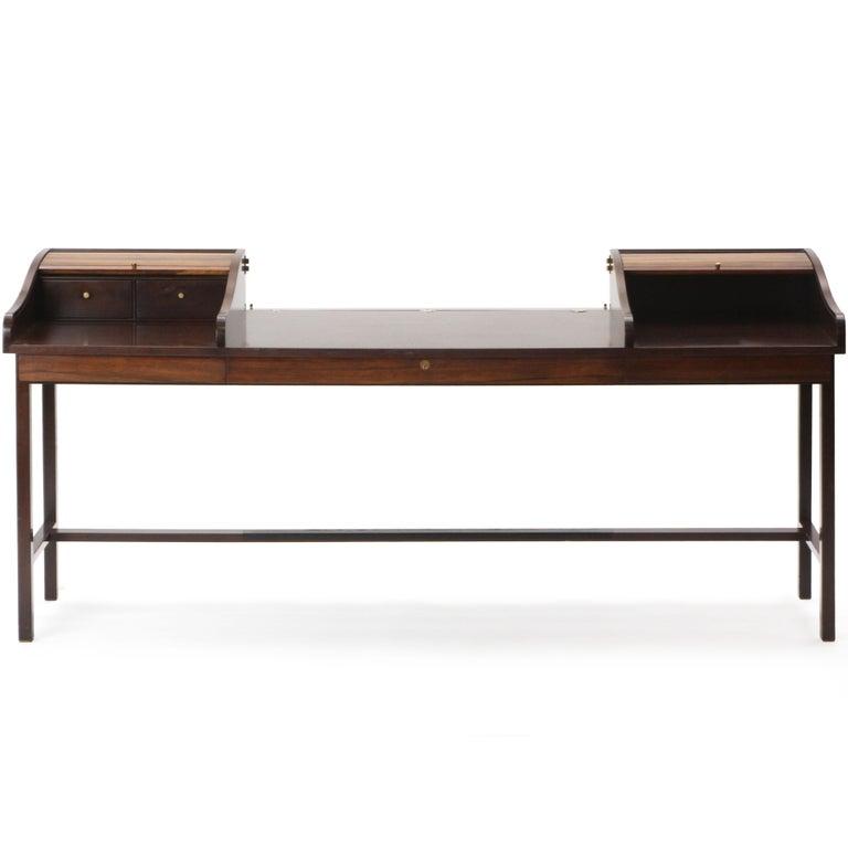 Mid-Century Modern Roll Top Desk by Edward Wormley for Dunbar For Sale