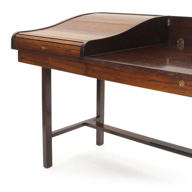 American Roll Top Desk by Edward Wormley for Dunbar For Sale