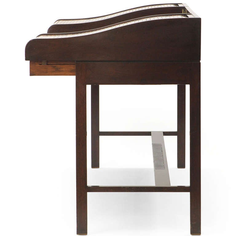 American Roll Top Writing Desk by Edward Wormley For Sale