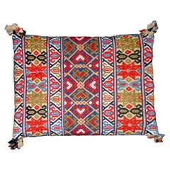 Rollakan Pillow, Hand-Woven Pillow, Sweden, 19th Century