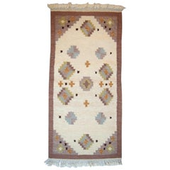 Röllakan Rug, Swedish Design, 1960s-1970s, Wool Carpet