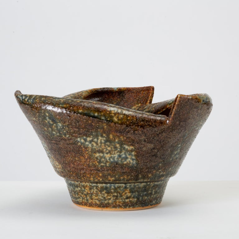 American Rolled-Edge Ceramic Bowl For Sale
